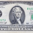 Royalty-Free Stock Photo: Used two dollars bill