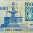 Постер, плакат: Money of Hungary 1000 forint macro
