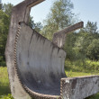 Toboggan track fragment — Stock Photo