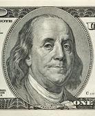 本杰明 · 富兰克林的肖像 — 图库照片