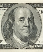 Retrato de benjamin franklin — Foto Stock