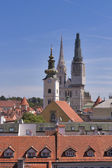 Zagreb Cathedral towers — Stock Photo