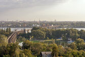 Dnepropetrovsk railroad bridge — Stock Photo