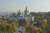 Outono paisagem urbana de kiev — Foto Stock