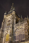 St. Vitus Cathedral at night — Stock Photo