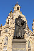 Statue of Martin Luther in Dresden — Stock Photo