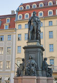 Monument of Friedrich August King of Saxony — Stock Photo