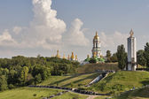 Kiev Pechersk Lavra Monastery and Memorial to Famine (Holodomor) — Stock Photo