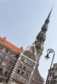 St. Peter cathedral in Riga — Stock Photo