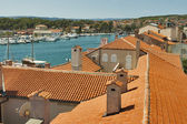 Roofs of Krk town — Stock Photo