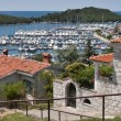 Vrsar harbor — Stock Photo