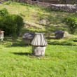 Ancient honey bee hives - Stock Photo