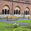 Old cathedral court yard — Stock Photo #23183400