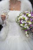 Wedding dress of the bride — Stock Photo