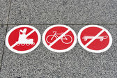 Prohibiting signs — Stock Photo