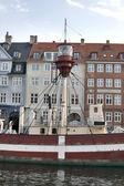 Copenhagen lighthouse boat — Stock Photo