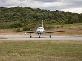 Landed plane — 图库照片