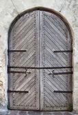 дверь старого замка — Стоковое фото