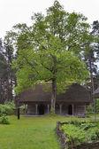Velho armazém tradicional letão — Foto Stock
