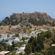 Lindos on Rhodes — Stock Photo