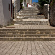 Stone steps street in Vrsar — Stock Photo