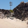 Mountain desert cell phone tower — Stock Photo #23206602