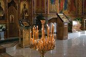 东正教教会里面 — 图库照片