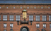 Wall fragment of the Copenhagen City Hall, Denmark. — Stock Photo