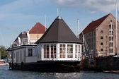 Copenhagen houseboat, Denmark — Stock Photo
