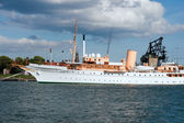 Danish Queen's Royal yacht — Stock Photo
