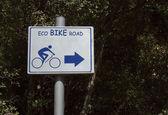 Cartello stradale di eco bici — Foto Stock