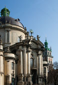 Dominican cathedral in Lviv — Foto Stock