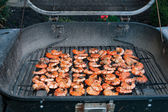 BBQ shrimps cooking — 图库照片