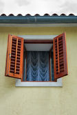 Old renovated window — Stock Photo