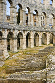 Ancient Roman arenas in Pula — Stock Photo