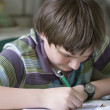 Writing boy — Stock Photo #23210558