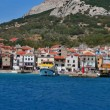Mediterranean town Baska panorama — Stock Photo
