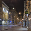 Night Zagreb street — Stock Photo