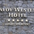 Stock Photo: Savoy Westend Hotel sign