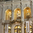 Karlovy Vary City Opera Theatre at night, Czech Republic - Stock Photo
