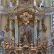 Pastor sermon in Dresden Frauenkirche — Stock Photo