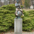 Stock Photo: Small statue of Franz in Frantiskovy Lazne, Czech Republic