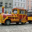 Sightseeing car train in Lviv — Stok fotoğraf