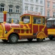 Sightseeing car train in Lviv — Stockfoto