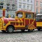 zwiedzanie pociągu samochodu we Lwowie — Zdjęcie stockowe
