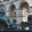 Sculpture of National Library of St Mark's. Venice, Italy. — Stock Photo #23213516