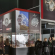 Victorinox, Timex and Wenger watches exhibition booth — Stock Photo