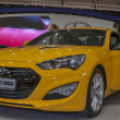 Hyundai Genesis Coupe car model on display — Stock Photo