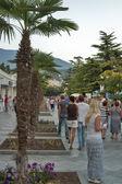 Yalta seafront in Crimea — Stock Photo