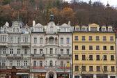 Karlovy Vary residential architecture — Stock Photo